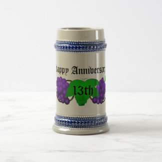 Wine Anniversary Stein 13th Beer Steins