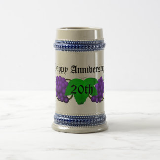 Wine Anniversary Stein 20th