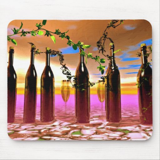 Wine Art Mouse Pads