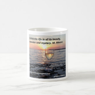 Wine at sunset coffee mug