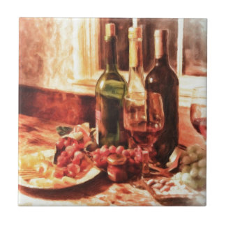 Wine At The Table by Shawna Mac Tile