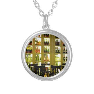 Wine Bar Round Pendant Necklace