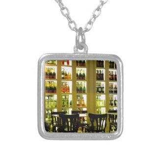 Wine Bar Square Pendant Necklace