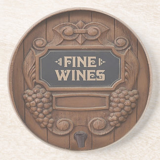 Wine Barrel Design coasters