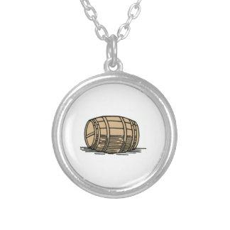 Wine Barrel Round Pendant Necklace