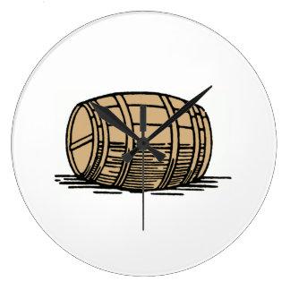 Wine Barrel Wallclock