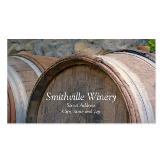 Wine Barrels Business Card