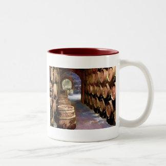 Wine Barrels in the Wine Cellar Coffee Mugs