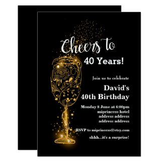 Wine birthday invitation, cheers to any years! card