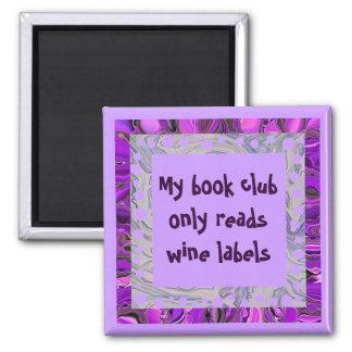 wine book club square magnet