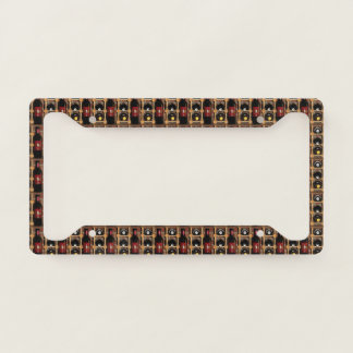 Wine Bottle Abstract License Plate Frame