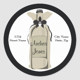 Wine Bottle Address Label