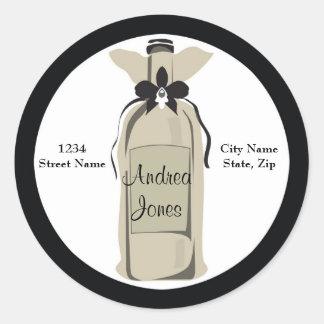 Wine Bottle Address Label Sticker