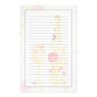 Wine Bottle and Glass Stationery Paper