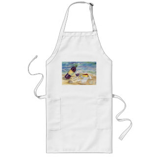 Wine Bottle and Glasses on the Beach Apron