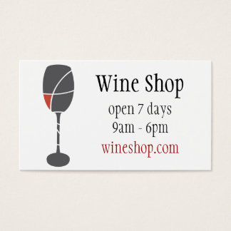wine bottle and wine glass business card