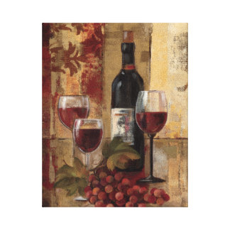 Wine Bottle and Wine Glasses Canvas Print