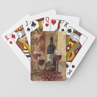 Wine Bottle and Wine Glasses Playing Cards