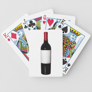 Wine Bottle (Blank Label) Bicycle Card