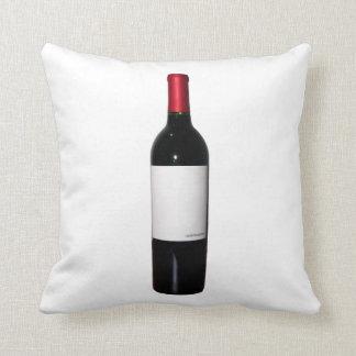 Wine Bottle (Blank Label) Pillow Cushions