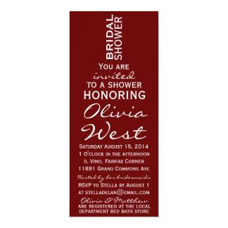 Wine Bottle Bridal Shower Invite - Merlot