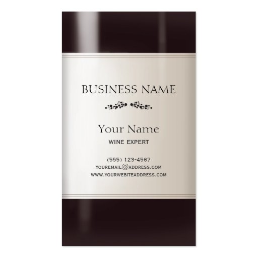Wine Bottle Business Card