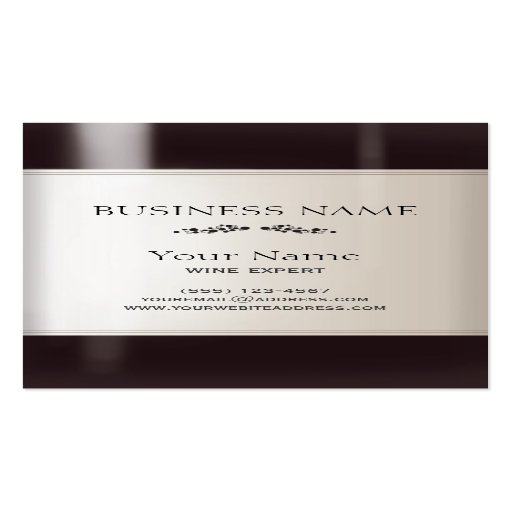 Wine bottle business card zazzle for Wine business cards