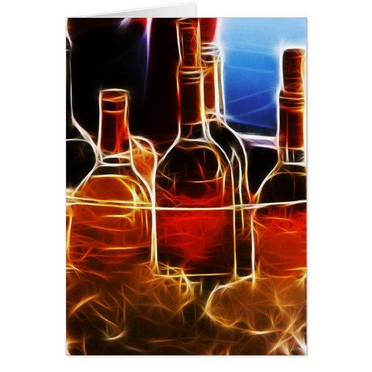 Wine bottle Card