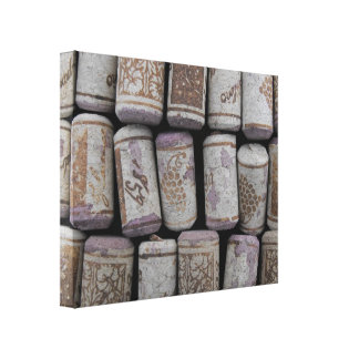 Wine Bottle Corks Close-Up Photo Canvas