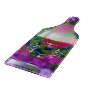 Wine Bottle Effect Paddle Chopping Board