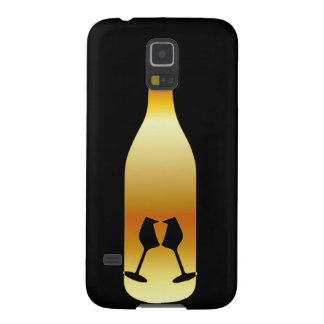 Wine bottle in gold colors galaxy s5 case
