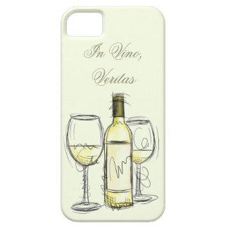 "wine bottle ""in vino veritas"" iphone case"