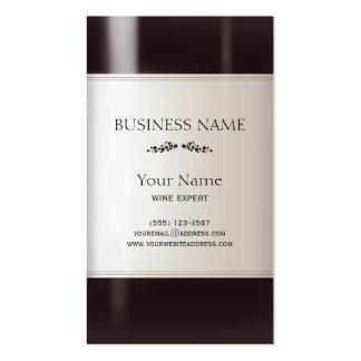 Wine Bottle Label Pack Of Standard Business Cards