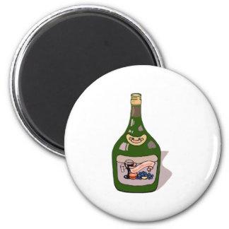 Wine Bottle Refrigerator Magnet