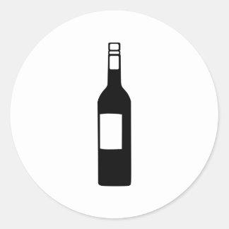 Wine bottle round sticker
