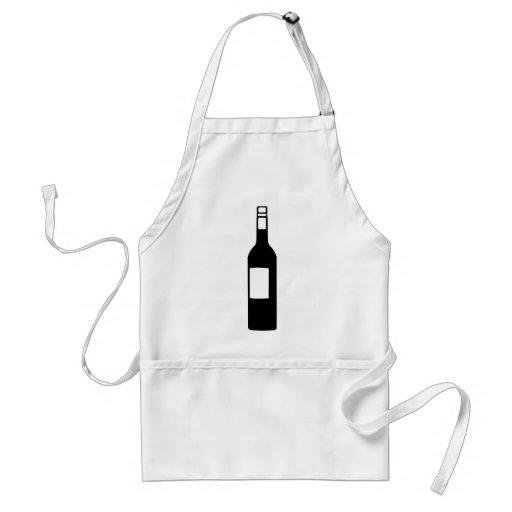Wine bottle standard apron