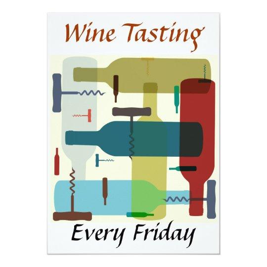Wine bottle themed invitation