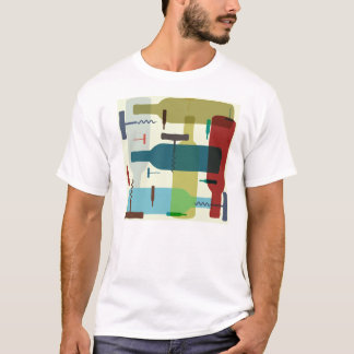 Wine bottle themed t-shirt