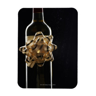 Wine bottle with bow magnet