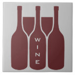 Wine Bottles and Glasses Design Ceramic Tile
