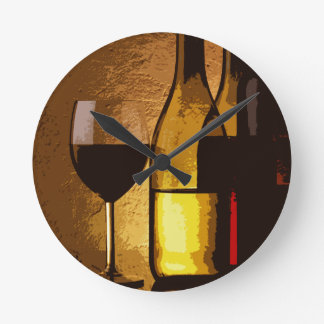 wine bottles clock