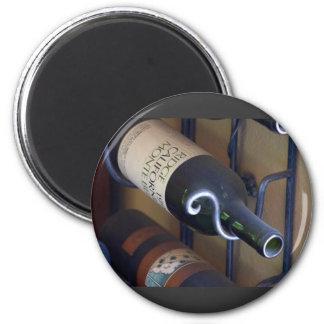 Wine Bottles In A Rack Magnet
