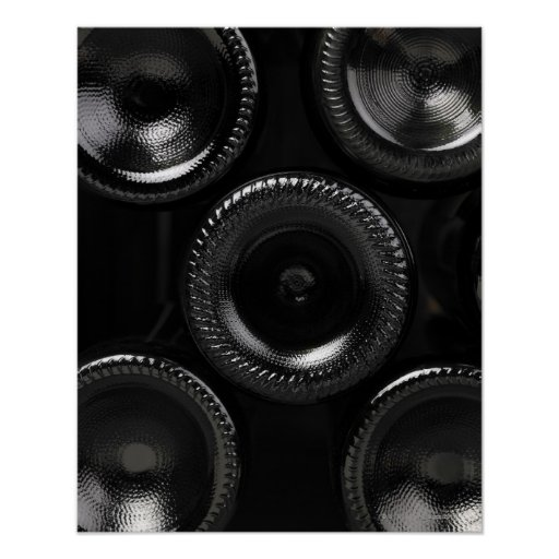 Wine bottles in a wine cellar. Only the bottom Poster