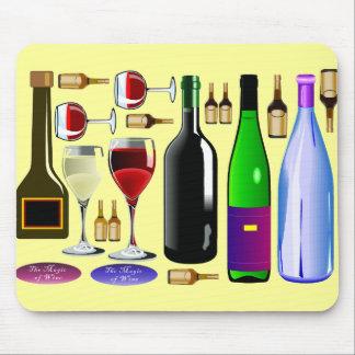 Wine bottles mouse mat