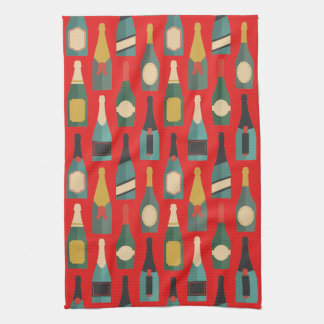 Wine Bottles Tea Towel