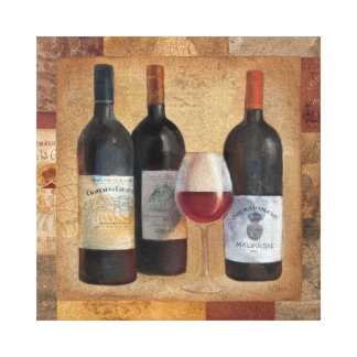 Wine Bottles with Glass Canvas Print