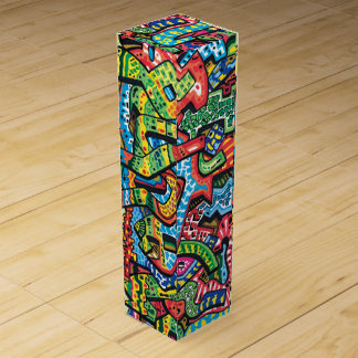 Wine Box with Graffiti desigbn Sup#10
