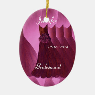 WINE Bridesmaid Thank You Wedding Ceramic Oval Decoration
