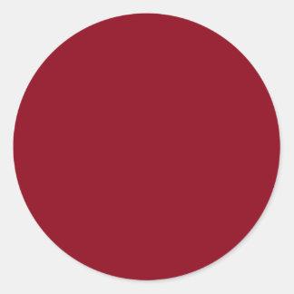 Wine Burgundy Dark Red Color Only Custom Round Sticker