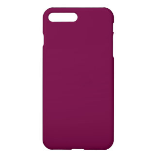 Wine Burgundy Solid Color Simple Plain iPhone 7 Plus Case